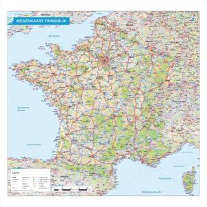 Wegenkaart Frankrijk