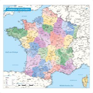 Landkaart Frankrijk staatkundig