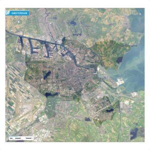 Luchtfoto Amsterdam met wijken