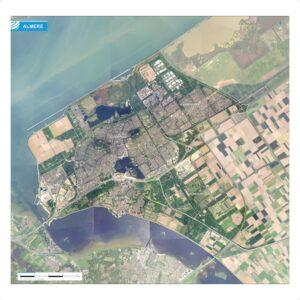 Luchtfoto Almere met wijken