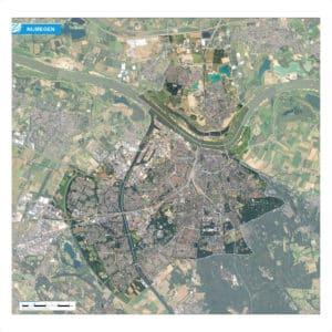 Luchtfoto Nijmegen met wijken