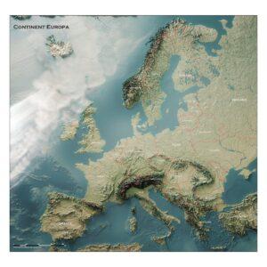 3D Kaart Europa