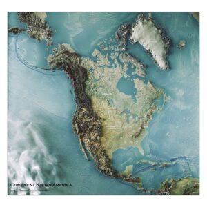 3D kaart Noord-Amerika