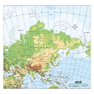 Schoolkaart Azie natuurkundig