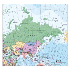 Schoolkaart Azie Staatkundig