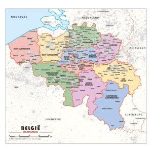 Schoolkaart Belgie staatkundig