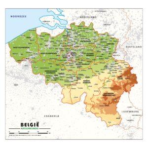Schoolkaart Belgie natuurkundig