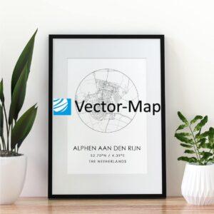kaart poster Alphen aan den Rijn