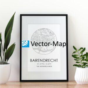 kaart poster Barendrecht
