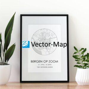 kaart poster Bergen op Zoom