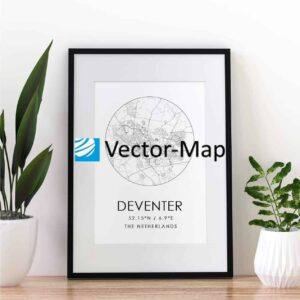 kaart poster Deventer