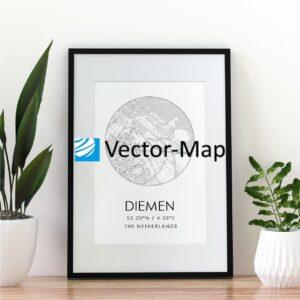 kaart poster Diemen