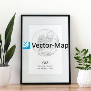 kaart poster Oss