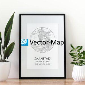 kaart poster Zaanstad