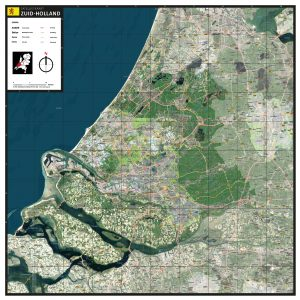 Satellietkaart Zuid-Holland