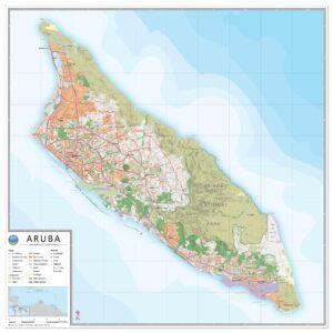 Landkaart Aruba