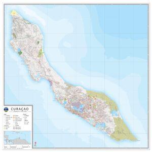 Landkaart Curaçao