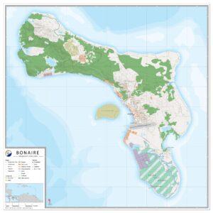 Landkaart Bonaire