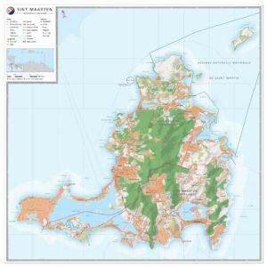 Landkaart Sint Maarten