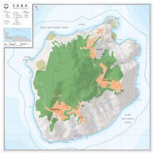 Landkaart Saba