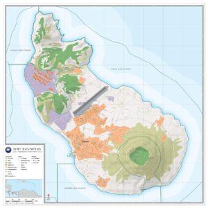 Landkaart Sint Eustatius