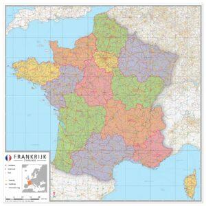 Staatkundige landkaart Frankrijk